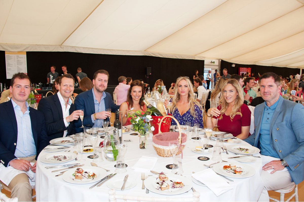 Guests enjoying VIP Corporate Hospitality at the Beach Polo